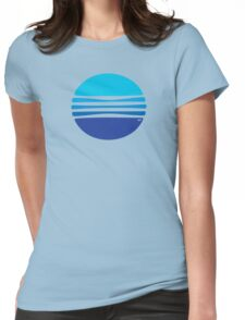 Lovely Blue Circle T-Shirt Womens Fitted T-Shirt