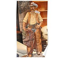 MODEL OF WESTERN COWBOY Poster