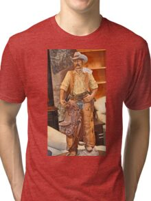 MODEL OF WESTERN COWBOY Tri-blend T-Shirt