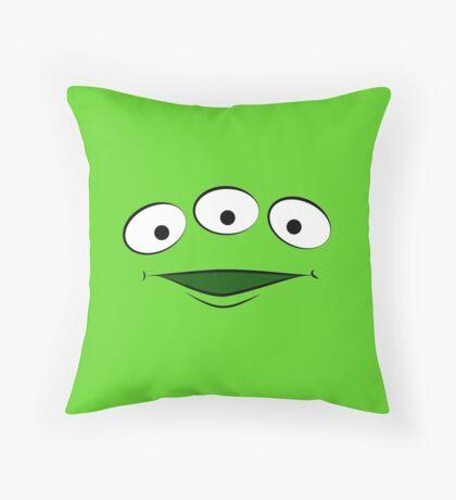 Toy Story Alien - Smile Throw Pillow