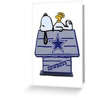 Snoopy Dallas Cowboys Fan Greeting Card