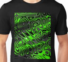 Swirls and Spots - Green Unisex T-Shirt