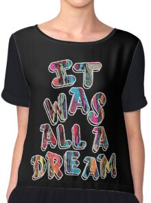 NOTORIOUS B.I.G. IT WAS ALL A DREAM GRAPHIC T SHIRT Chiffon Top