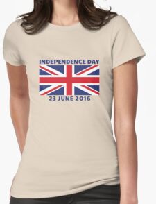 UK Independence Day, 23 June 2016, Brexit Womens Fitted T-Shirt