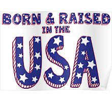 Born and Raised in the USA Poster