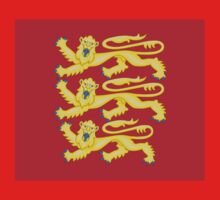 Royal Arms of England - Three Lions - British Flag Football T-Shirt One Piece - Short Sleeve