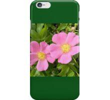 Pink Shrub Roses iPhone Case/Skin