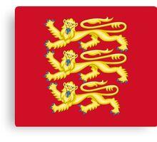 Royal Arms of England - Three Lions - British Flag Football T-Shirt Canvas Print