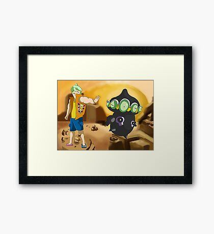 GROUND/PSYCHIC type trainer Framed Print