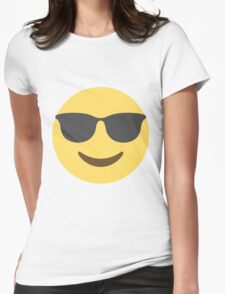 Smiling Face With Sunglasses Emoji Womens Fitted T-Shirt