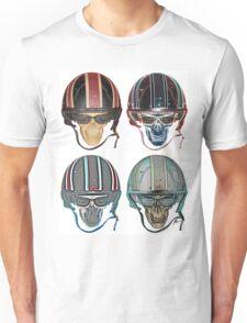 Skull Neon Demon Biker Helmet Unisex T-Shirt