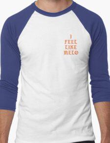 I FEEL LIKE MELO Men's Baseball ¾ T-Shirt
