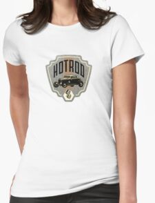 Hotrod Ford Womens Fitted T-Shirt