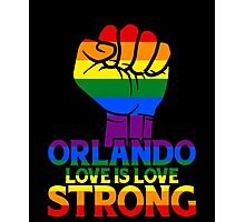 Orlando Strong Love Is Love Photographic Print