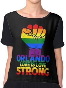 Orlando Strong Love Is Love Chiffon Top