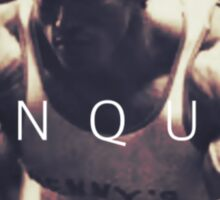 Conquer with Arnold Schwarzenegger Sticker