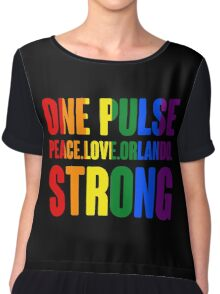 One Pulse Peace Love Orlando Strong Chiffon Top