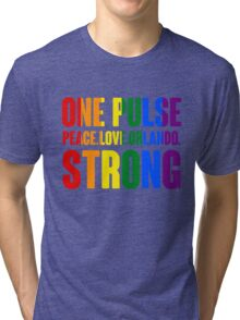 One Pulse Peace Love Orlando Strong Tri-blend T-Shirt