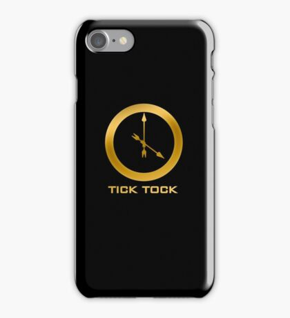 Catching Fire Tick Tock Shirt  iPhone Case/Skin