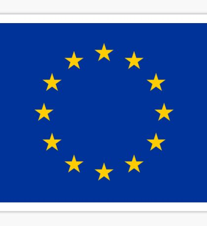 EU Flag Dress - European Union Sticker Sticker