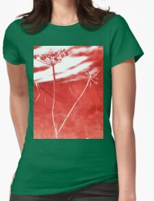 Fade to Red Womens Fitted T-Shirt