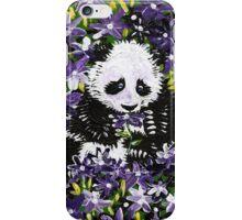 Panda Cub in Purple Flowers iPhone Case/Skin