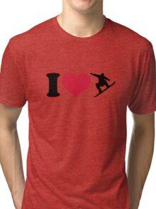 I love Snowboarding Tri-blend T-Shirt