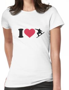 I love Snowboarding Womens Fitted T-Shirt