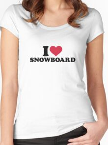 I love Snowboard Women's Fitted Scoop T-Shirt