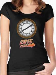 Back to the Future Clock 2015 Women's Fitted Scoop T-Shirt