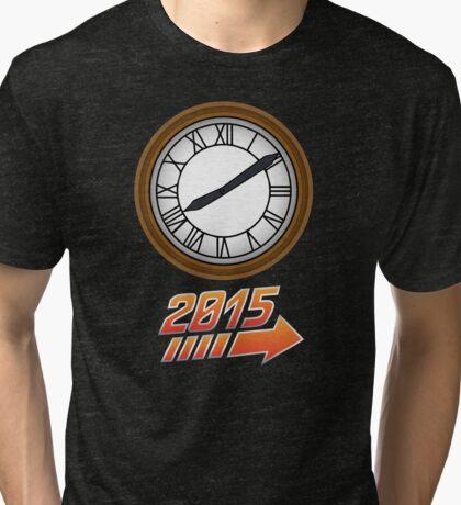 Back to the Future Clock 2015 Tri-blend T-Shirt