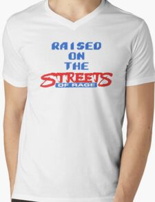 Raised on the Streets of Rage Mens V-Neck T-Shirt