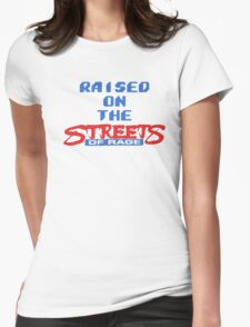 Raised on the Streets of Rage Womens Fitted T-Shirt