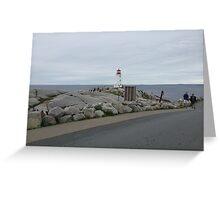 Peggy's Cove landmark lighthouse Greeting Card