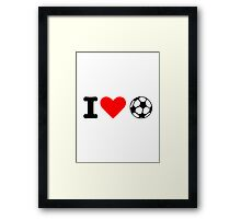 I love soccer ball Framed Print