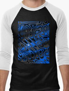 Swirls and Spots - Blue Men's Baseball ¾ T-Shirt
