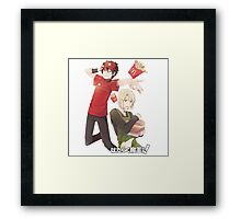 devil is a part timer mcronalds outfit Framed Print