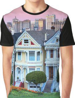 San Francisco Painted Ladies Graphic T-Shirt