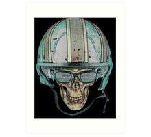 Skull Undead Demon Biker Helmet Art Print