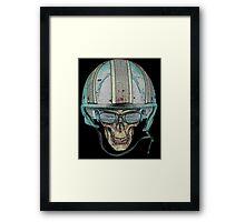 Skull Undead Demon Biker Helmet Framed Print