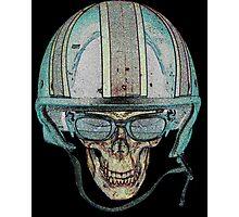 Skull Undead Demon Biker Helmet Photographic Print