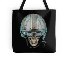 Skull Undead Demon Biker Helmet Tote Bag