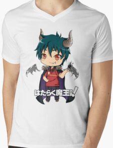chibi devil is a part timer  Mens V-Neck T-Shirt