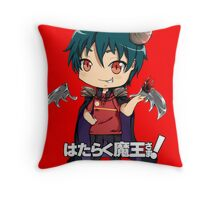 chibi devil is a part timer  Throw Pillow