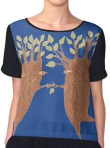 Dancing Trees Women's Chiffon Top