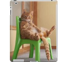 The most chilled out cat! iPad Case/Skin