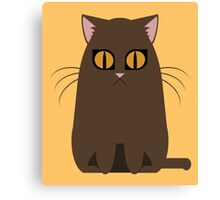 Brown Graphic Kitty Canvas Print