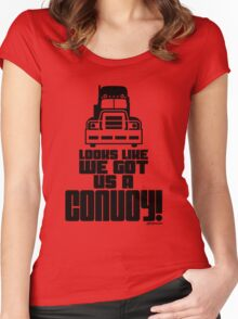 Looks Like We Got Us A Convoy! Women's Fitted Scoop T-Shirt