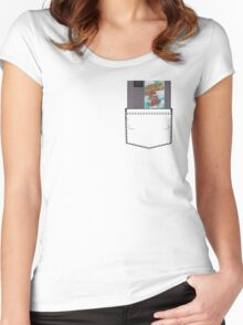 Mario 2 - NES Pocket Series Women's Fitted Scoop T-Shirt