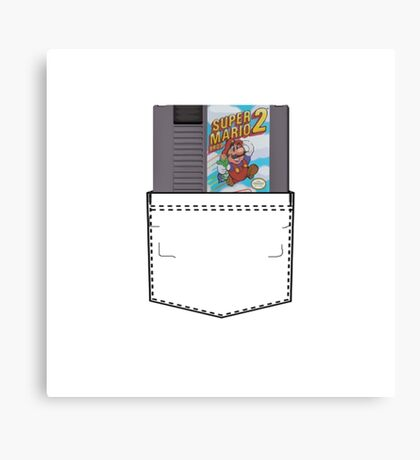 Mario 2 - NES Pocket Series Canvas Print